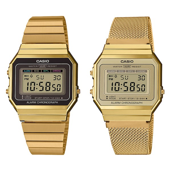 Ультратонкие и водонепроницаемые: новая коллекция часов Vintage от Casio  - золотистые