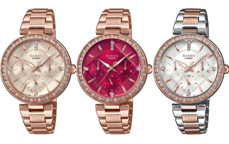 Три новые модели часов Sheen в цвете розовое золото с кристаллами Swarovski®